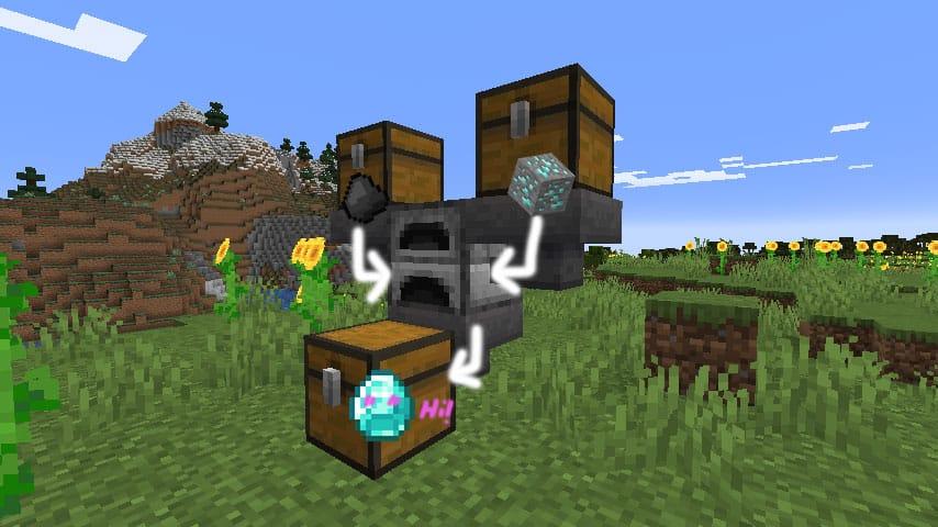 Cách nung nấu tự động trong Minecraft